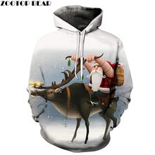 ZOOTOP BEAR Brand 3D Hoodies Christmas Sweatshirts Casual Fashion Sport Hoodies For Men Grandfather Riding Dropshopping(China)