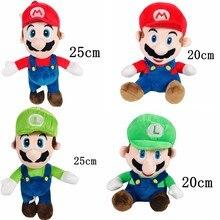 Luigi e mario animais de pelúcia boneca irmão mario brinquedo de pelúcia