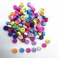 30pcs10mm смешанные Цвет улыбающееся лицо Бусы из полимерной глины бусины для самостоятельного изготовления ювелирных изделий браслет аксессу...