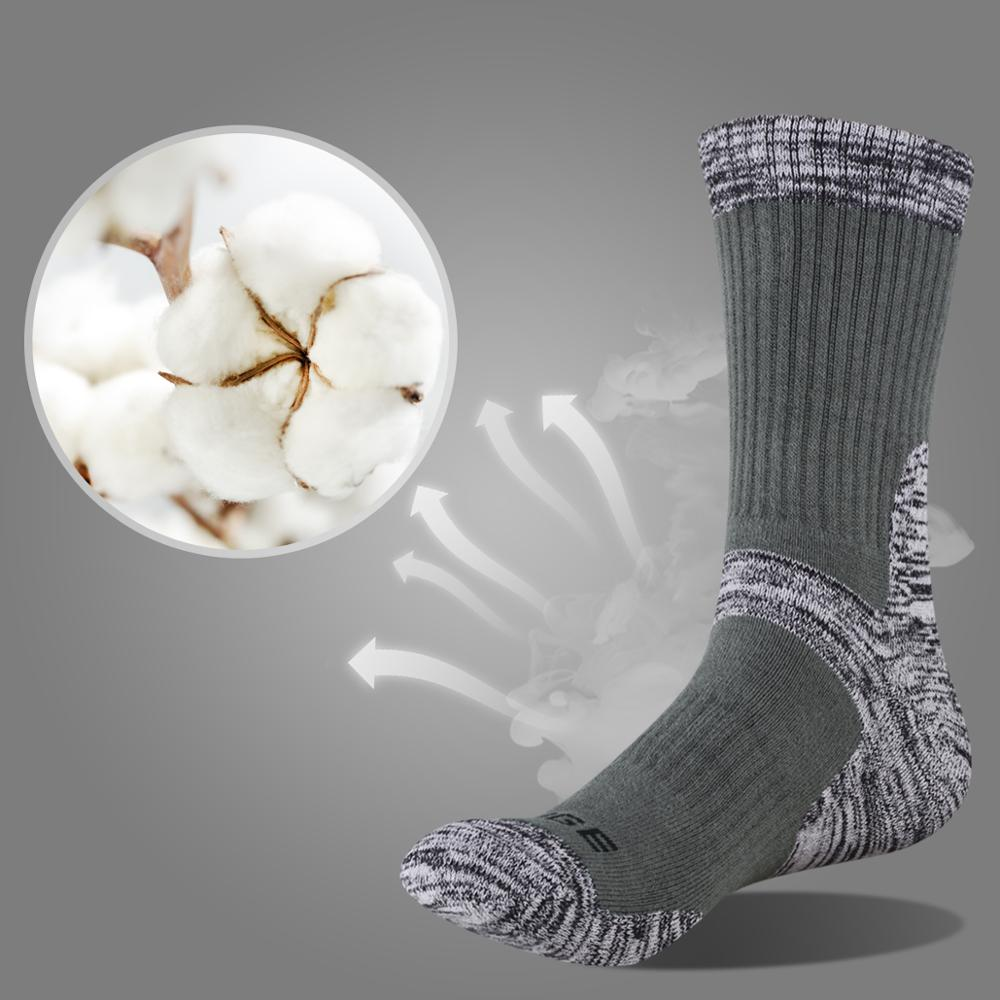 Image 2 - YUEDGE мужские впитывающие подушки хлопковые носки спортивные походные носки (5 пар/упаковка)