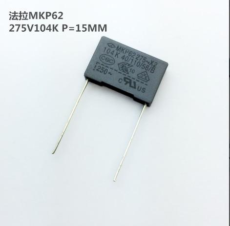 10pcs~100pcs 0.1UF 275VAC X2 Safety Capacitor 275V104K 10MM Pitch