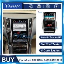 2 Din Android Auto Radio GPS Navigation Tesla Stil Für Infiniti Q50 Q50L Q60S 2012-2019 Auto Stereo Empfänger multimedia-Player