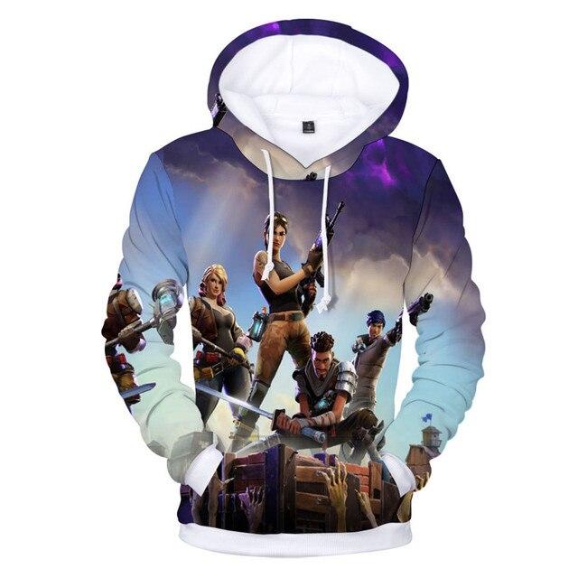 Battle Game Pink Bear New 3D Hoodie Children Streetwear Hip Hop Warm Hoody Sweatshirts Harajuku Sweat Homme Hoodies