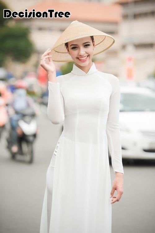 2020 mujer blanca aodai Vietnam ropa tradicional trajes de Vietnam y pantalones Vietnam trajes estilo étnico cheongsam mejorado Kimono japonés cárdigan tradicional obi yukata mujeres kimonos japoneses tradicionales ropa de Japón mujeres kimono cardigan V1403