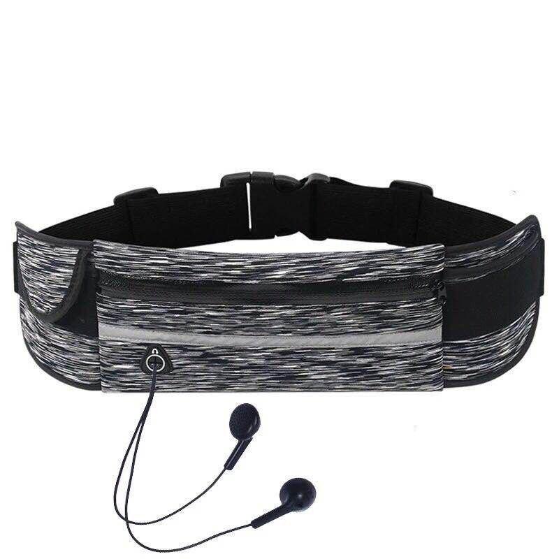 Unisex Sports Waist Pockets Lycra Ultra-Thin Waterproof Pockets 6 Inch Mobile Phone Bag Running Belt For Fitness Gym Yoga