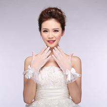 Wedding-Gloves Short White-Accessories Spring Korean-Style Summer New And Bride Tulle