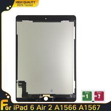 100% nuovo Tablet LCD per Apple iPad 6 Air 2 A1567 A1566 Display Touch Screen Digitizer sensori pannello di montaggio parti di ricambio