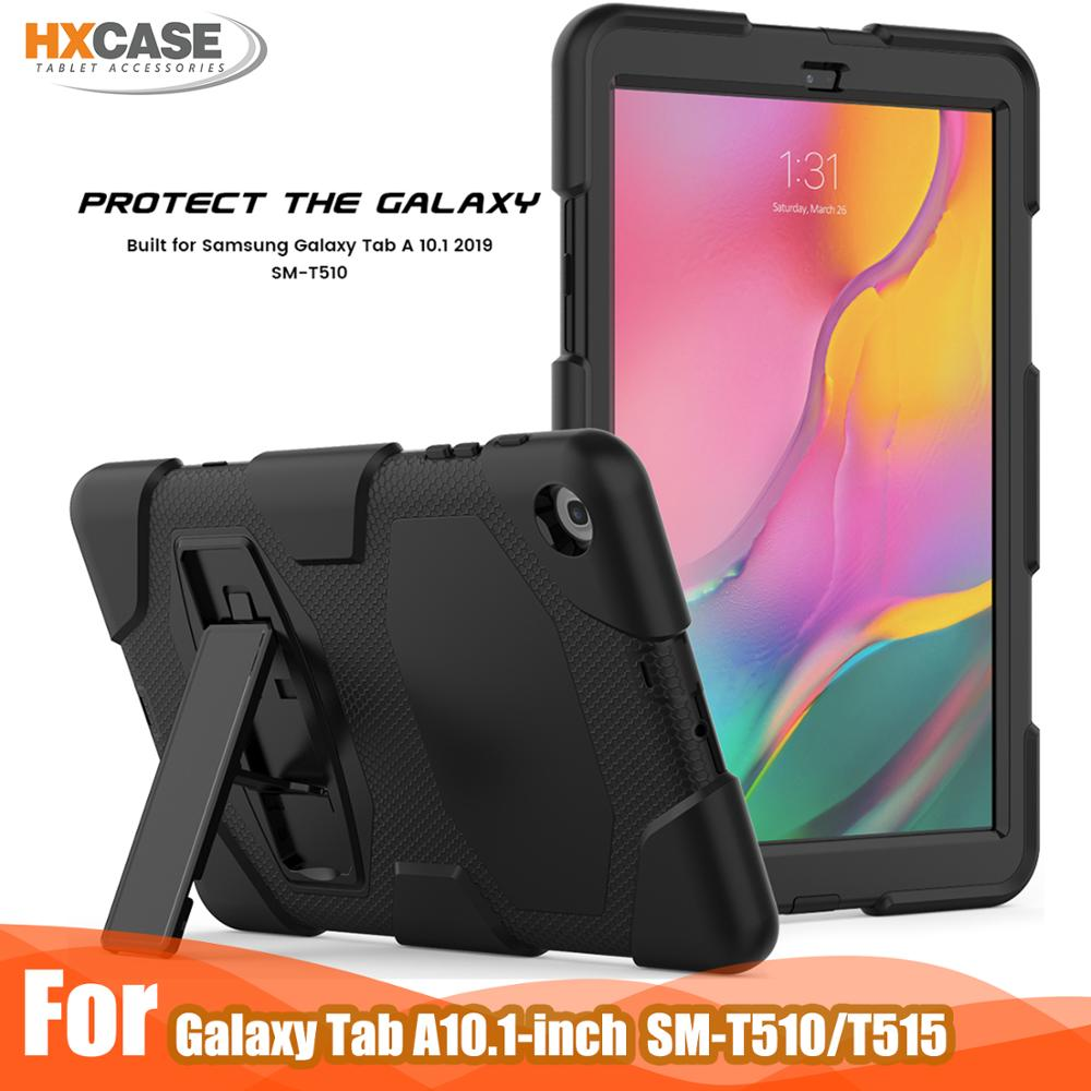HXCASE Built-in kickstand case For <font><b>samsung</b></font> <font><b>galaxy</b></font> <font><b>tab</b></font> <font><b>a</b></font> <font><b>10</b></font> <font><b>1</b></font> t510 t515 <font><b>2019</b></font> cases image