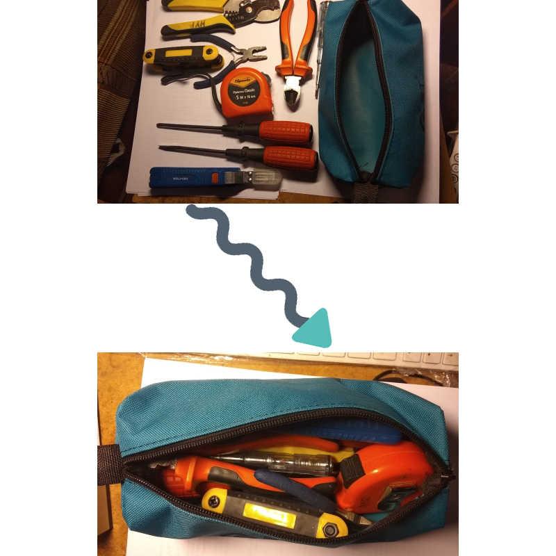 Oxford tuval su geçirmez depolama el çantası çantası vidalar çivi matkap ucu Metal parçaları balıkçılık seyahat makyaj organizatör kılıf çanta kılıfı
