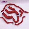 Силиконовый Радиатор нагреватель охлаждающей жидкости шланг для V W GOLF GT I 2 0 T FSI TURBO MK5 03-09 (8 шт.) красный/синий/черный