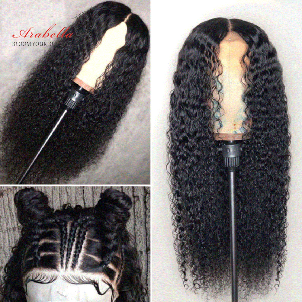 Deep Wave Hair Lace Front Wig With Baby Hair  Wigs Arabella Closure Wig Pre Plucked 13X4 Frontal Wig 1