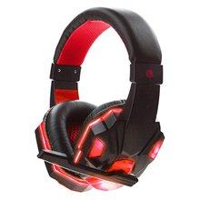 Gamingowy zestaw słuchawkowy Stereo zestaw słuchawkowy dla graczy gamingowy zestaw słuchawkowy 3 5mm z LED mikrofon zestaw słuchawkowy dla graczy do komputera gamingowy zestaw słuchawkowy dla PS4 tanie tanio ONLENY Head-mounted headset