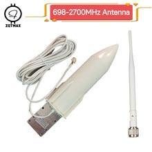 ZQTMAX antenne 4G 3G antenne extérieure 30dBi GSM antenne externe N femelle pour 2G 3G 4G LTE répéteur de signal mobile booster + câble
