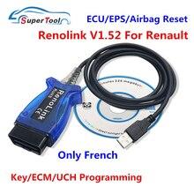 Diagnostic-Cable Airbag-Reset Programmer-Key OBD2 Renolink V1.87 Renault-Ecu Coding Better