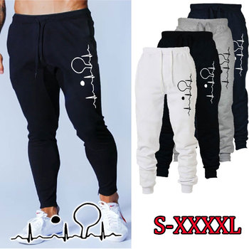 Fashion Men and Women Print Sweatpants Drawstring Jogger Pant Sports Fitness Long Pants Autumn Winter Casual Trouser