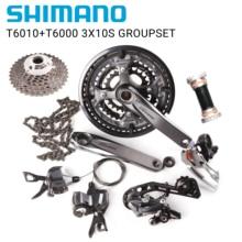 Shimano Deore T6010 T6000 3x10s طاقم دراجة هوائية جبلية الجبهة Derailleur الخلفية Derailleur SGS شيفتر HG54 سلسلة HG50 10 11 36