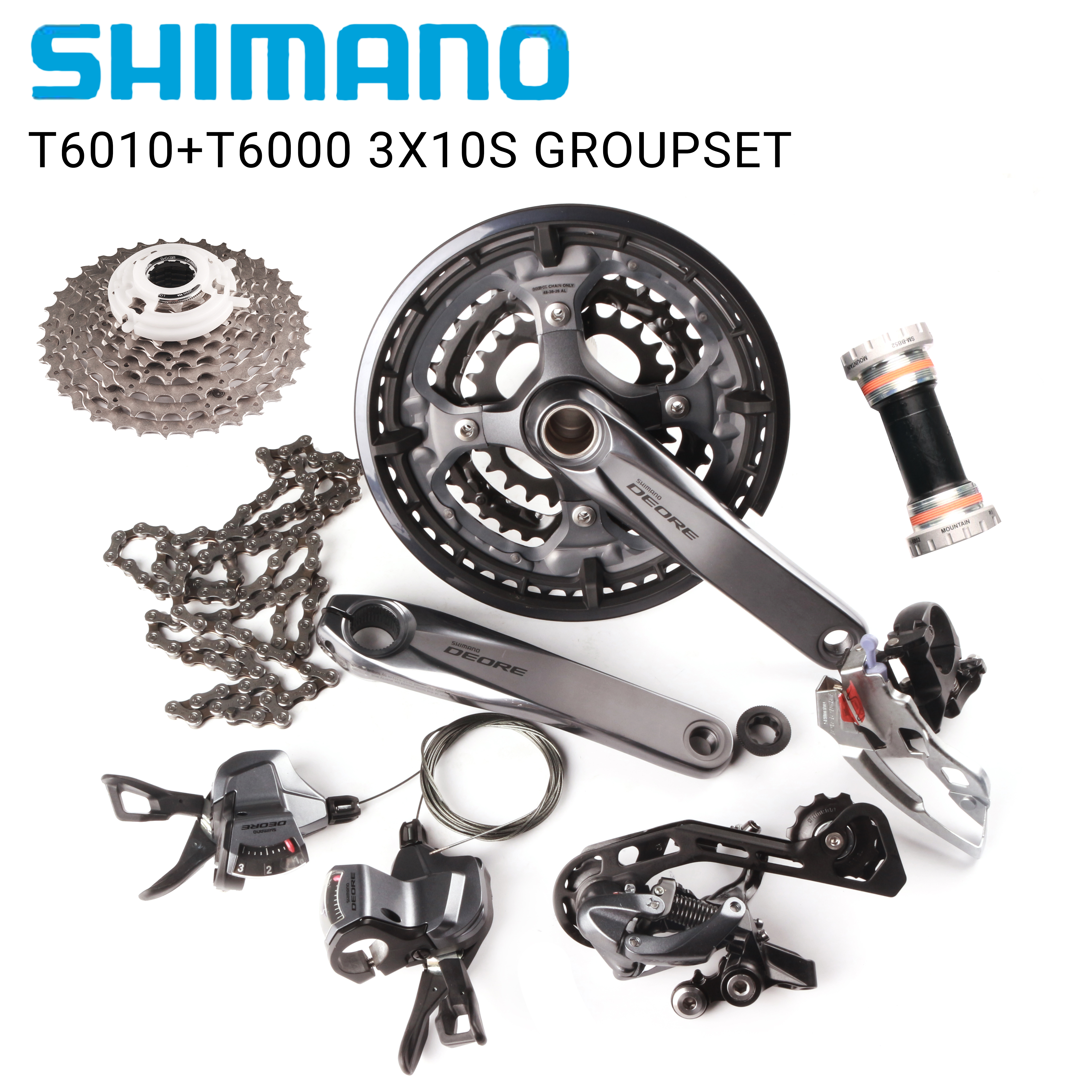 SHIMANO DEORE M6000 Groupset MTB Mountain Bike 1x10-Speed 10S derailleur kit