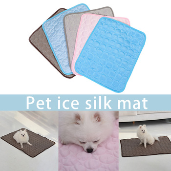 Pet Cooling Mat Pad for Dogs Cat Ice Silks Mat Cooling Blanket Cushion for Kennel Sofa Bed Floor Car Seats _WK image