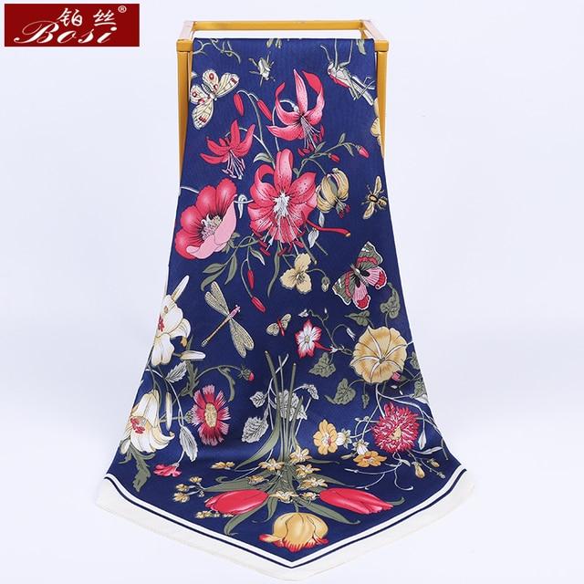 Scarf silk print women small square Plaid stripe shawl luxury brand scarfs satin sjaal stripe scarves foulard echarpe 70*70cm