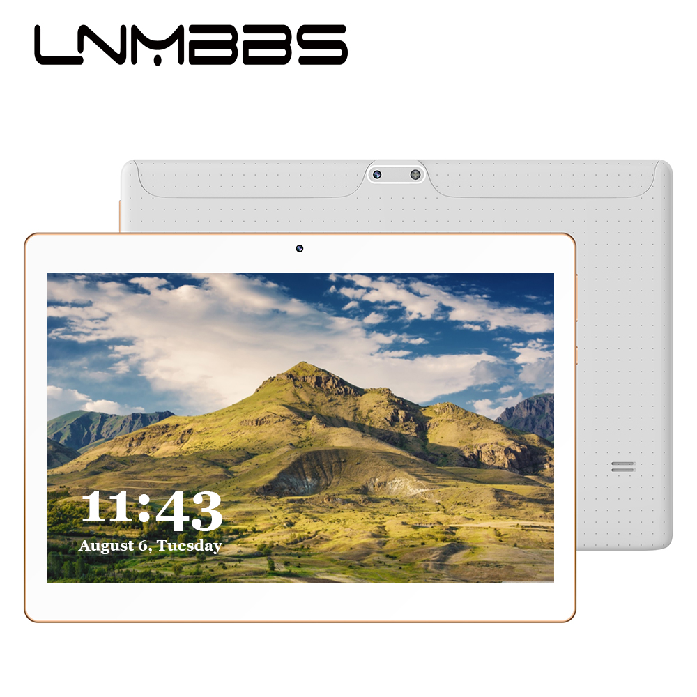 LNMBBS K107 10.1inch Tablet PC RAM 4GB ROM 64GB 3G Phone Call Phablet 1280*800 IPS Android 7.0 MTK6753 GPS Dual Camera Tablets