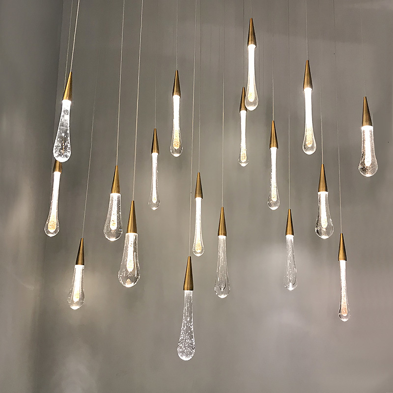 Meteor Shower Crystal Lamp Modern Simplicity Originality Display Window Water Drop Lamp Restaurant Bar Novelty Lamp