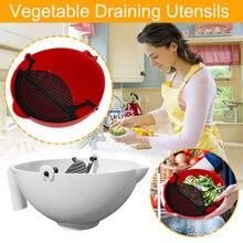 360 grad rotierenden wasser korb wasser filter gewürz obst mischen Kreative Kunststoff Ablauf Korb Reis Waschen Filter