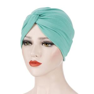 Image 4 - Turban plissé pour femmes, foulard pour femmes, couvre chef, bandeau, musulman, accessoires pour cheveux, mode