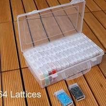 64 балки 5D DIY алмазная живопись аксессуары контейнер для бисера Стразы коробка для хранения алмазные вышивальные Инструменты Чехол Органайзер