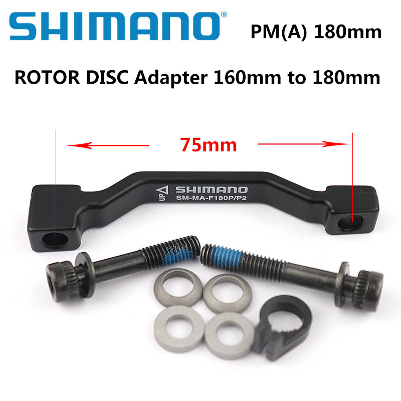 <font><b>SHIMANO</b></font> Original Disc Brake Adapter PM A pillar Disc Brake Bracket For <font><b>180mm</b></font> <font><b>Rotor</b></font> RT86 RT81 RT56 <font><b>shimano</b></font> SM-MA-F180P/P2 image