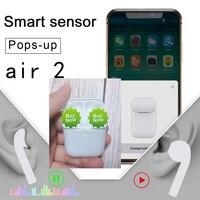 1:1 I200 Latest Smart Light Sensor Air 2 2nd Pop up TWS Bluetooth 5.0 Earphone Earbuds Wireless Headphones Bass killer