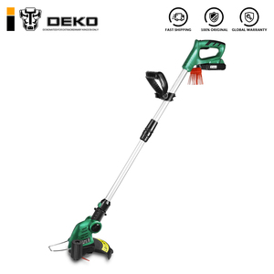 DEKO DKGT06 20V Lithium 2000mAh Cordless Grass Trimmer with Battery Pack and Blade Pendants Adjustable Length Angle(China)