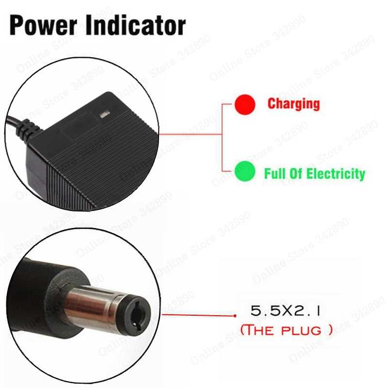 geneic 36v Battery Charger Output 42v 2A Charger Input 100 240 VAC Lithium Li-Ion Charger For 10S 36v Electric Bike