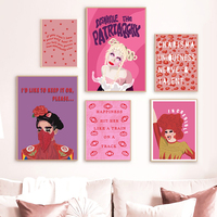 Feminist Girl Canvas Painting Self Love Quote Prints Woman Wall Art Pink Pictures Feminism Tv Show Posters Bed Room Home Decor