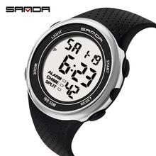 Часы наручные sanda мужские светодиодные цифровые спортивные