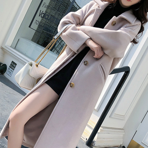 Image 3 - Ailegogo New Autumn Women Korean OL Style Long Coat Casual Turn Down Collar Single Breasted Loose Fit Female Outwear