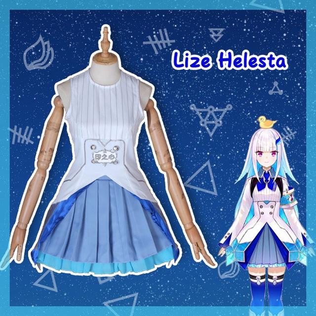 Hololive VTuber GAMERS YouTuber Lize Helesta Cosplay Costumes Women Cute Dress Top Skirts Coat Halloween Uniforms Custom Made 5