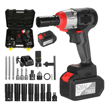 Impact-Wrench Torque Brushless-Motor Cordless And 980nm with Fast-Charger Variable-Speed