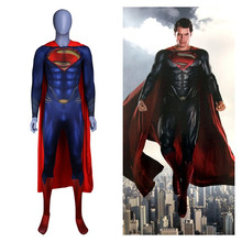 Anime Superman :Man of Steel 2 Clark Kent Cosplay Costumes Superhero Kids Adults Zentai Jumpsuits Cloak Bodysuits Suit