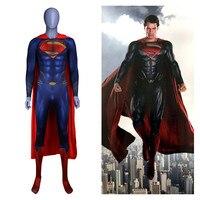 Anime Superman :Man of Steel 2 Clark Kent Cosplay Costumes Superhero Superman Kids Adults Zentai Jumpsuits Cloak Bodysuits Suit