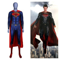 Anime Superman :Man of Steel 2 Clark Kent Cosplay Costumes Superhero Superman Kids Adults Zentai Jumpsuits Cloak Bodysuits Suit