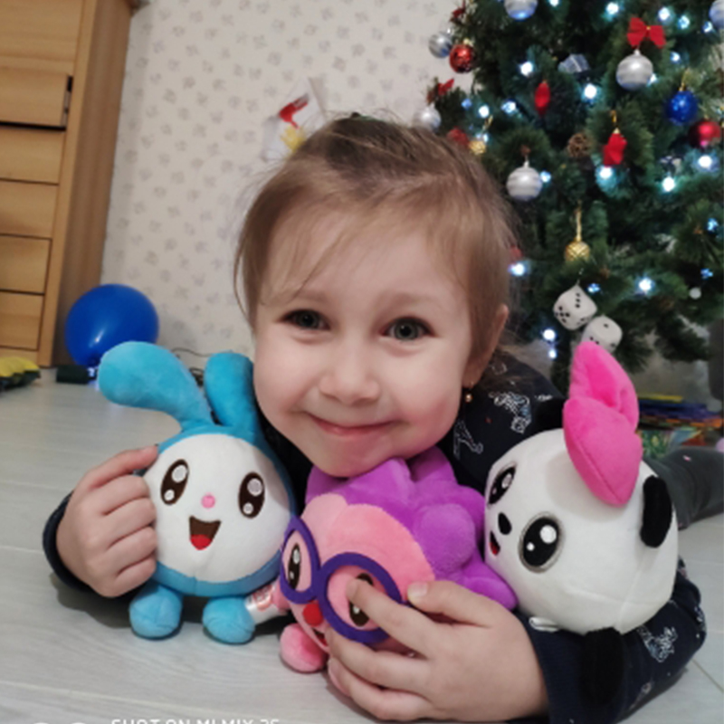 15CM Russian Cartoon Toy Baby Rabbit Pig Panda Dolls Animal Stuffed Plush Toys Birthday Gifts For Girls Boy Kids Children