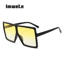 Imwete Oversized Square Sunglasses Women Men Trending Gradie