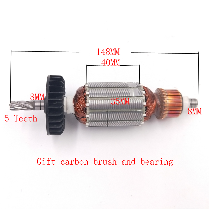AC220-240V Electric Hammer Rotor For Hitachi DH24PB3 DH24PC3 360720E C210716E 5-tooth Rotor Accessories
