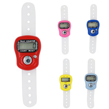 Tally Counter Stitch-Marker Finger-Ring Hand-Held Plastic Electronic Mini Portable LCD