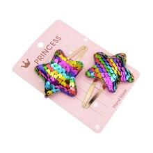 15 цветов шпилька для маленьких девочек Блестящая Корона Пентаграмма в форме сердца принцесса зажим для волос маленькая звезда милый головной убор аксессуары