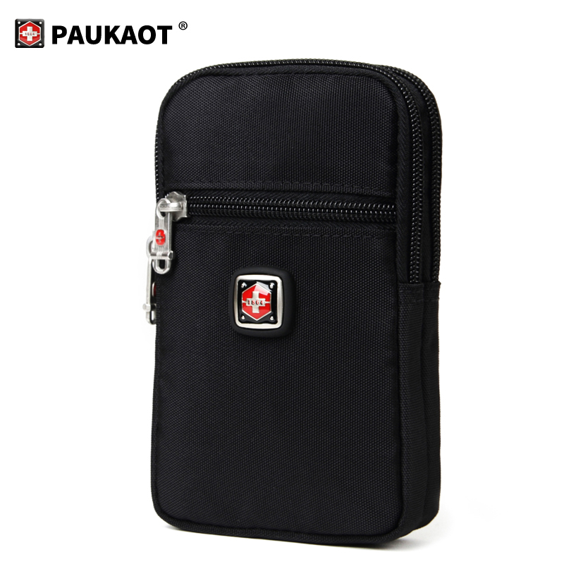 Casual Men's Zipper Fanny Packs Belt Clip Bum Bag For 6.1/6.5 Inches  Mobile Phone Waist Bags Vertical Money Pouch Bag