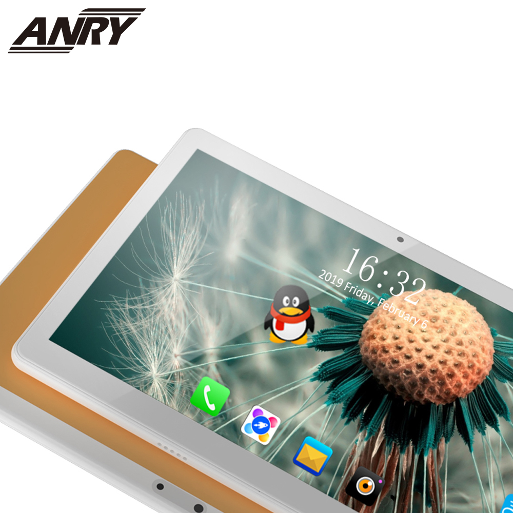 ANRY Kids Children's Tablet Teaching Learning Tablet 10.1 Inch 4G Lte Phone Call Dual Sim Card Slot Wifi GPS Bluetooth +Gift