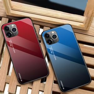 Image 5 - 10 قطعة إطار زجاجي قوي للهاتف المحمول ل أبل فون 11 برو XS ماكس XR X 8 زائد 7 6 6S التدرج اللون الوفير الغطاء الواقي