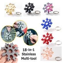 18 em 1 combinação de cartão ferramenta floco de neve multifuncional floco de neve chave de fenda ferramenta floco de neve