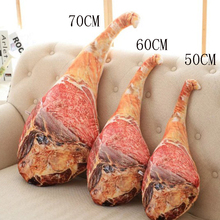 купить 50/70CM Personality Simulation Ham Plush Toy Doll Creative 3D Print Bacon Pillow Child Doll Whole Person Spoof Funny Gift Doll дешево